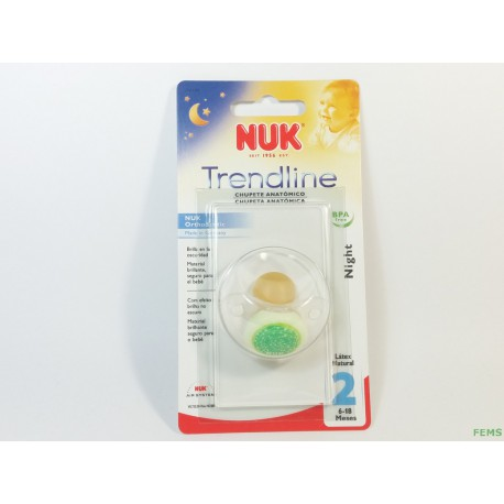 Nuk Chupete Night talla 6-18 meses latex