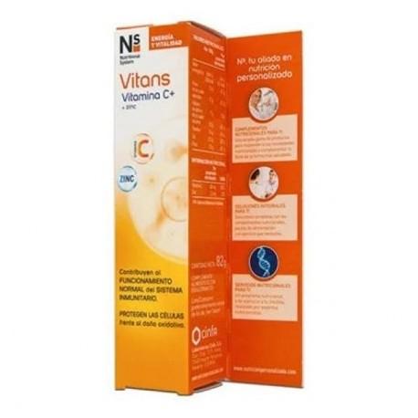 Ns Vitans Vitamina C + Zinc 20 comprimidos efervescentes