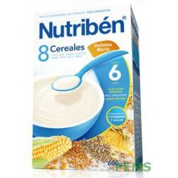 Nutribén 8 cereales con galletas maría (600 g)