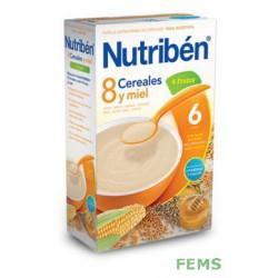Nutribén 8 cereales y miel con 4 frutas (600 g)