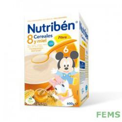 Nutribén 8 cereales y miel fibra (600 g)